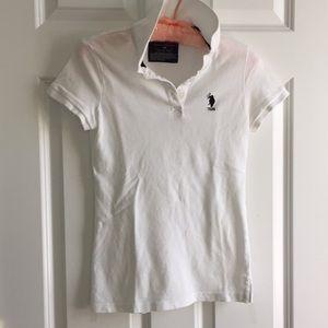 Cap sleeved polo shirt